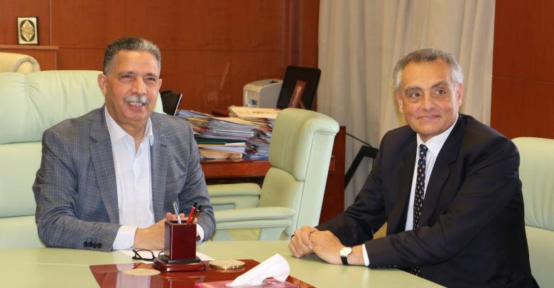 لقاء وزير المواصلات ميلاد معتوق مع السفير الإيطالي لدى ليبيا جوزيبي بوتشينو - وزارة المواصلات