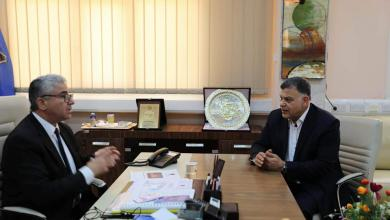 اجتماع وزير الداخلية المفوض بحكومة الوفاق فتحي باشاغا مع وكيل الوزارة عميد خالد مازن