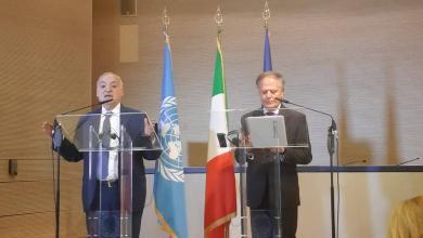 وزير الخارجية الإيطالي إينزو موافيرو ميلانيزي والمبعوث الأممي غسان سلامة