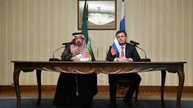 وزير الطاقة الروسي ألكسندر نوفاك ووزير الطاقة السعودي خالد الفالح