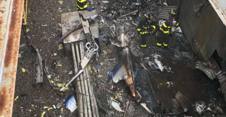 حطام الطائرة - مانهاتن نيويورك