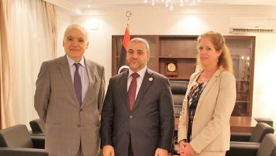 لقاء رئيس المجلس الأعلى للدولة خالد المشري مع المبعوث الأممي إلى ليبيا غسان سلامة ونائبته ستيفاني ويليامز