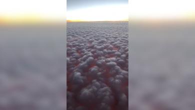 "Photo of ""مشهد مذهل"" لـ""الغروب والغيوم"" صُوّر جواً. شاهد"