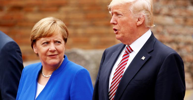 لقاء لرئيس الأميركي دونالد ترامب مع المستشارة الألمانية أنجيلا ميركل