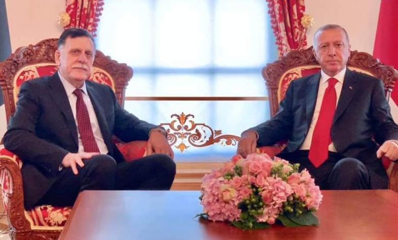 رجب طيب أردوغان - فائز السراج