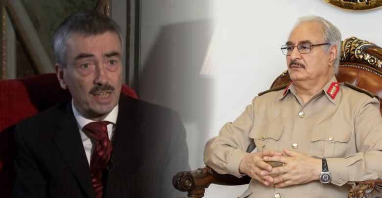 المشير خليفة حفتر - السفير البريطاني السابق لدى ليبيا بيتر ميليت