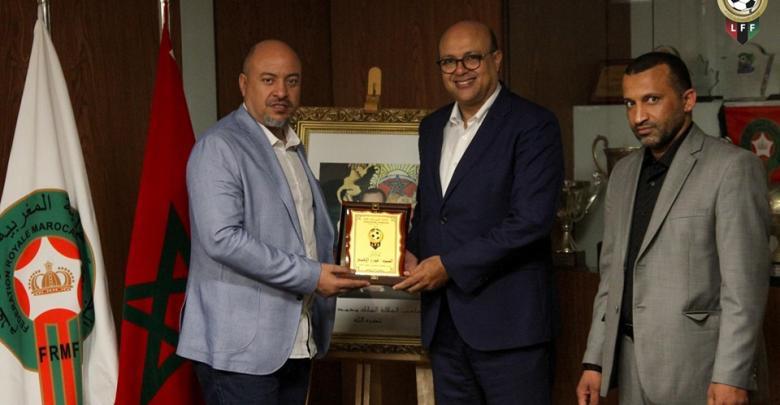 اتحاد الكرة يكرم رئيس الجامعة المغربية لكرة القدم