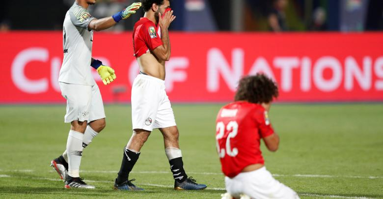 خروج المنتخب المصري من الكان