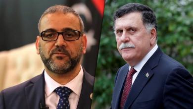 رئيس المجلس الرئاسي فائز السراج ورئيس المجلس الأعلى للدولة خالد المشري