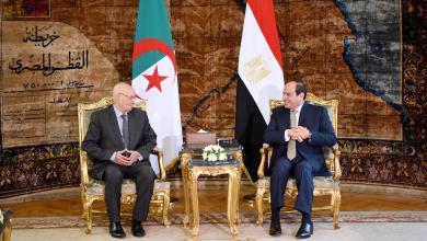 لقاء الرئيس المصري عبد الفتاح السيسي والرئيس الجزائري عبد القادر بن صالح