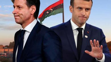 ماكرون - كونتي - ليبيا