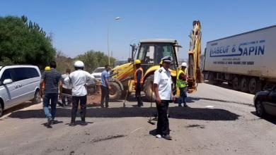 Photo of المرج..تجهيز المداخل للحد من الحوادث المرورية