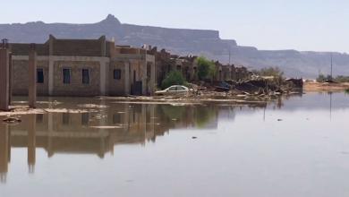 "Photo of حي ""الصينية"" في غات .. ذهب الطوفان والمعاناة باقية"