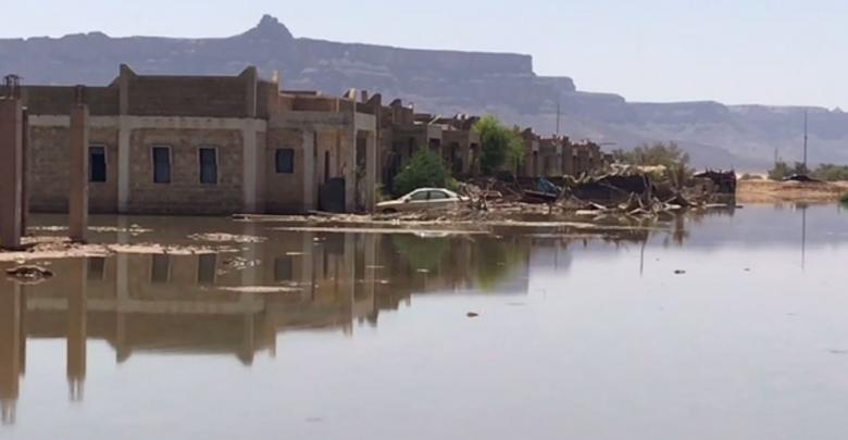 حي الشركة الصينية في غات هجره أهله وسكنوا الخيام
