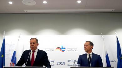 وزير الخارجية الروسي سيرغي لافروف ووزير الخارجية الألماني هايكو ماس