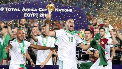 المنخب الجزائري في لحظة تاريخية بتتويجه بطلاً لأمم أفريقيا 2019 في مصر للمرة الثانية في تاريخه