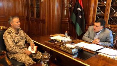 اجتماع رئيس المجلس الرئاسي فائز السراج مع آمر المنطقة العسكرية اللواء أسامة الجويلي