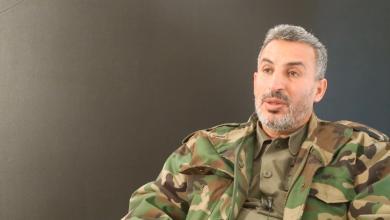 """صورة آمر اللواء 73 مشاة متحدثاً عن المرحلة الثانية لـ""""تحرير طرابلس"""""""