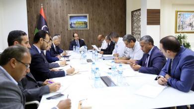اجتماع النائب بالمجلس الرئاسي أحمد معيتيق مع الوزارات والجهات الخدمية