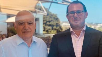 لقاء القائم بأعمال السفارة الأميركية في ليبيا جاشوا هاريس مع المبعوث الأممي غسان سلامة - تونس