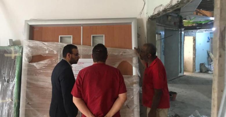 صحة الوفاق تتابع أعمال صيانة مستشفى جراحة الحروق والتجميل