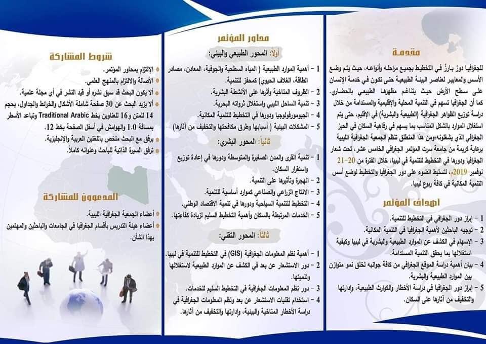 مطويات الجمعية الجغرافية الليبية