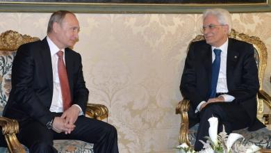 """الرئيسان الروسي بوتن والايطالي ماتاريلا يجتمعان في روما -""""وكالة آكي"""""""