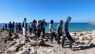 صورة إنقاذ 55 مُهاجراً قبالة سواحل ليبيا