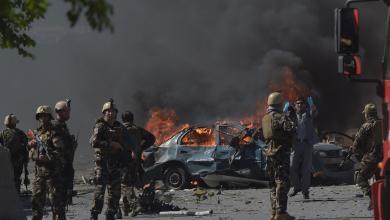 صورة قتلى وجرحى في انفجار تبنته طالبان في أفغانستان