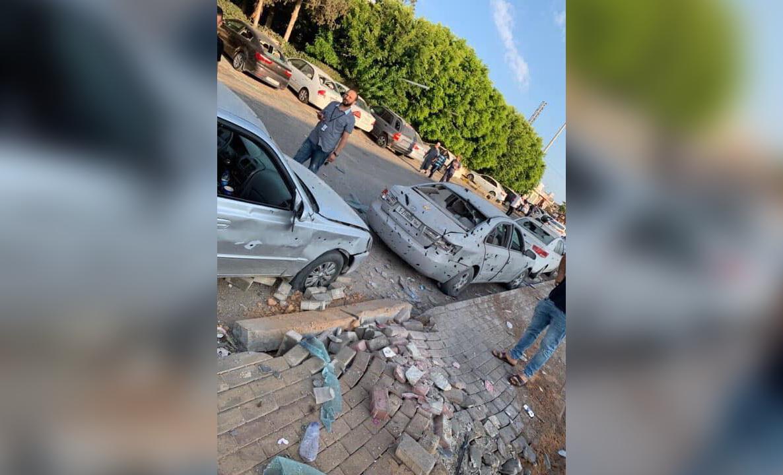 قصف على مطار معيتيقة