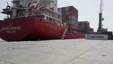 Photo of نشاط تجاري لافت في ميناء بنغازي البحري