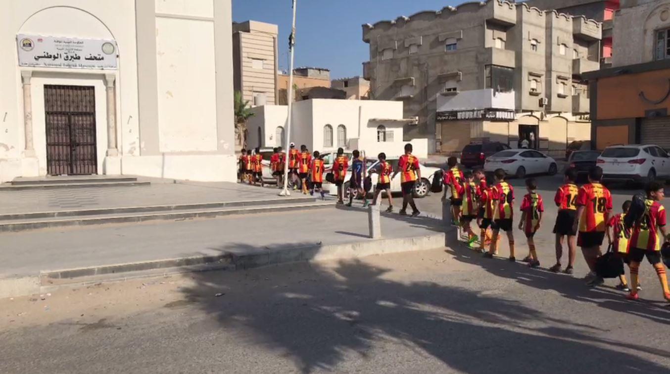 شبيبة نادي أكاديمية طبرق لكرة القدم من ضمن منشطي حفل إعادة افتتاح المتحف