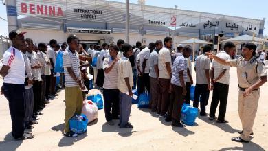 صورة إنقاذ مهاجرين في طرابلس وترحيل آخرين من بنغازي