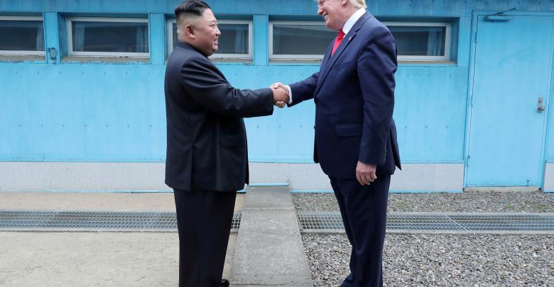 الرئيس الأميركي دونالد ترامب ورئيس كوريا الشمالية كيم جونغ أون - ارشيفية