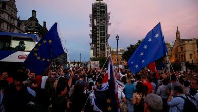 صورة انقسام حاد في بريطانيا بعد تعليق عمل البرلمان