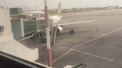 "Photo of ""الخطوط الليبية"" توضح حقيقة اشتعال محرك إحدى طائراتها"