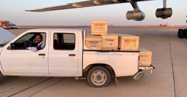 80 مليون دينار ليبي سيولة نقدية مخصصة لمصارف مدينة سبها والجنوب قاطبة تصل مطار تمنهنت