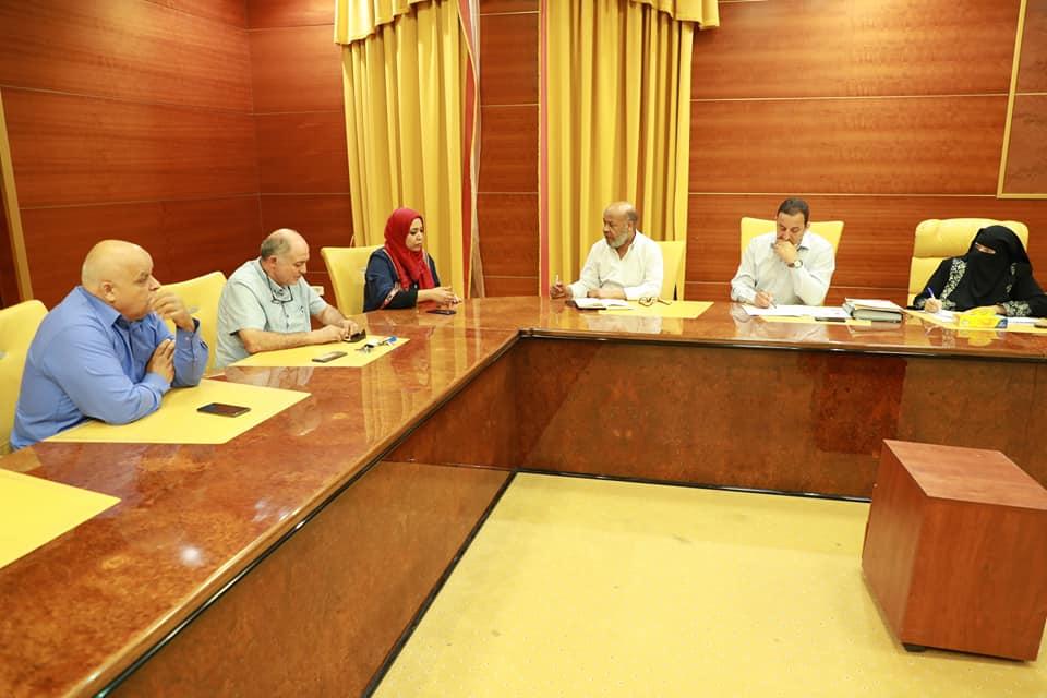 اجتماع وزير الصحة في حكومة الوفاق، أحميد بن عمر مع مديري المستشفيات الكبرى