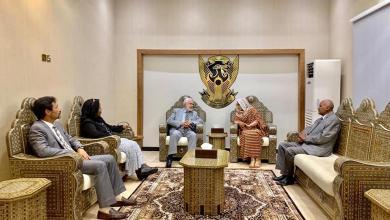 وكيلة وزير الخارجية السوداني تستقبل الوفد الليبي برئاسة وزير خارجية الوفاق محمد سيالة