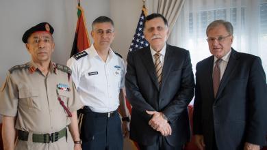 Photo of السراج يلتقي السفير الأمريكي وقائد الأفريكوم في تونس