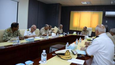 اجتماع الفريق ركن محمد الشريف بأركانات قوات الوفاق