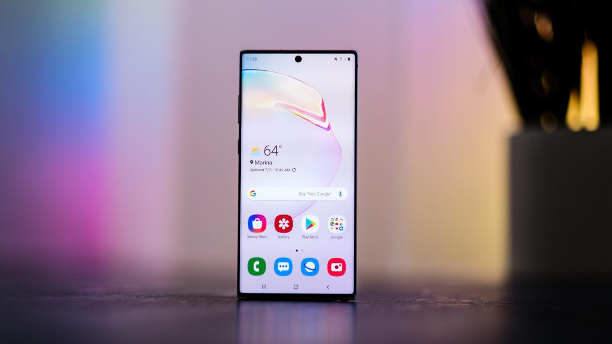 غالكسي نوت 10 بلس.. المواصفات والسعر بالدينار الليبي Samsung-Galaxy-Note-10-Plus-screen-head-on-2-1200x675
