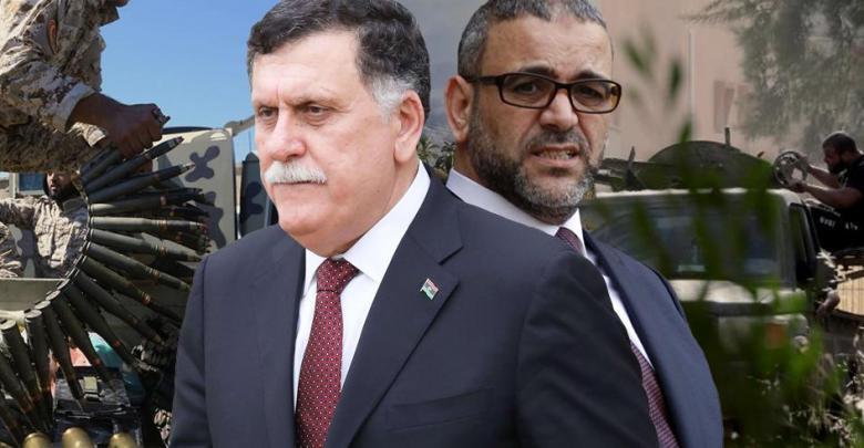رئيس المجلس الأعلى للدولة خالد المشري و رئيس المجلس الرئاسي فائز السراج