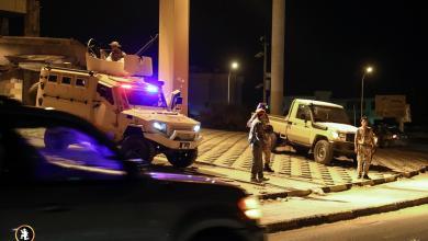 صورة انتشار أمني مُكثف لضبط شوارع بنغازي