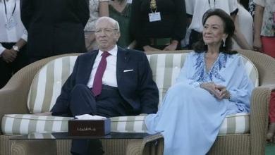 الرئيس الراحل السبسي وزوجته