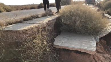 Photo of طبرق.. انهيارات تهدد المارين على طريق وادي عايد