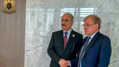 ملف مكافحة الإرهاب في ليبيا يجمع المشير مع السفير الأمريكي