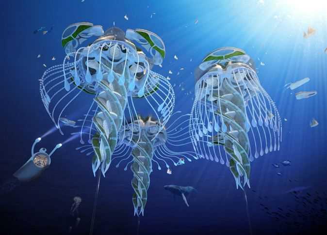 ناطحات سحاب تحت الماء
