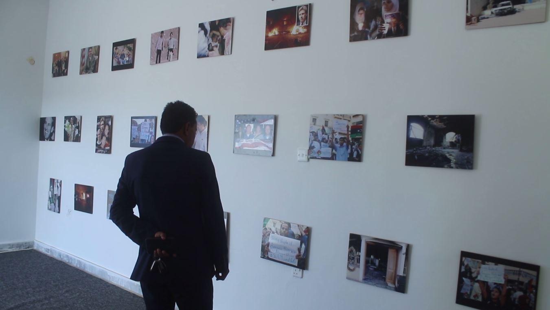معرض وركن للكتب في مركز ايواء المهاجرين في قنفودة