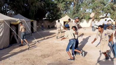 Photo of مخيم حلقة الفتيان لمفوضية كشاف الجفرة